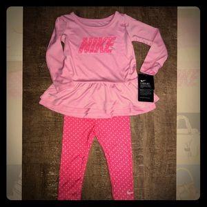 NWT. Nike Dry-Fit Peplum Tunic and Leggings